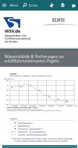 Unter www.elwis.de, bekommt ihr alle Informationen zum aktuellen Pegelstand und dessen Tendenz der nächsten Tage auf unterschiedlichen Teilstrecken angezeigt.